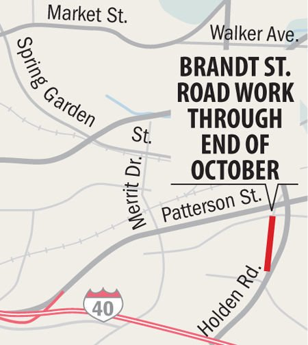 brandt st. road work closed_map