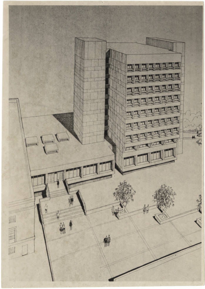 UNCG Jackson Library architectural drawing