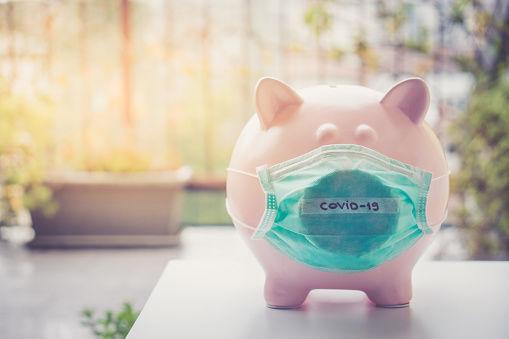 covid-19 money piggy bank generic