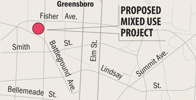 Proposed mixed use map