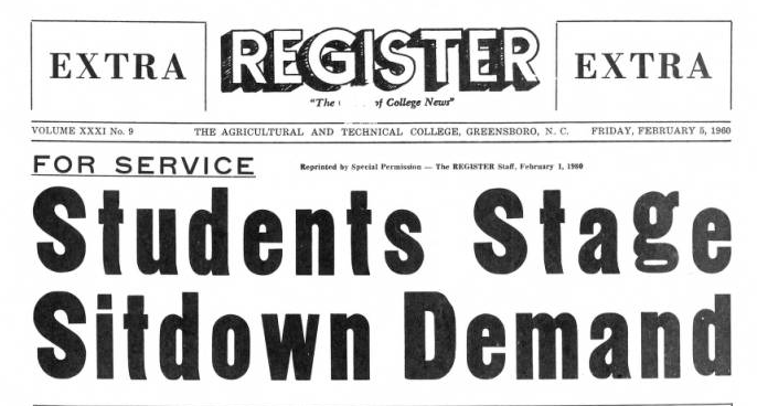 The AT Register Feb 5 1960 issue headline