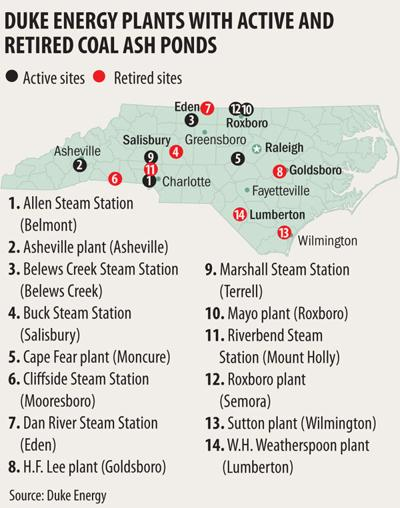 Duke Energy coal-fired plants in North Carolina (copy) (copy)