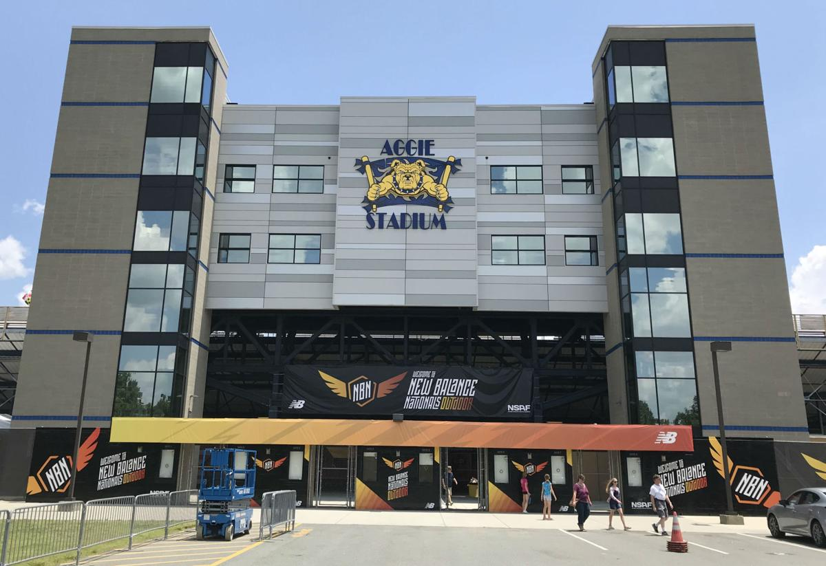 NCAT Aggie Stadium main entrance