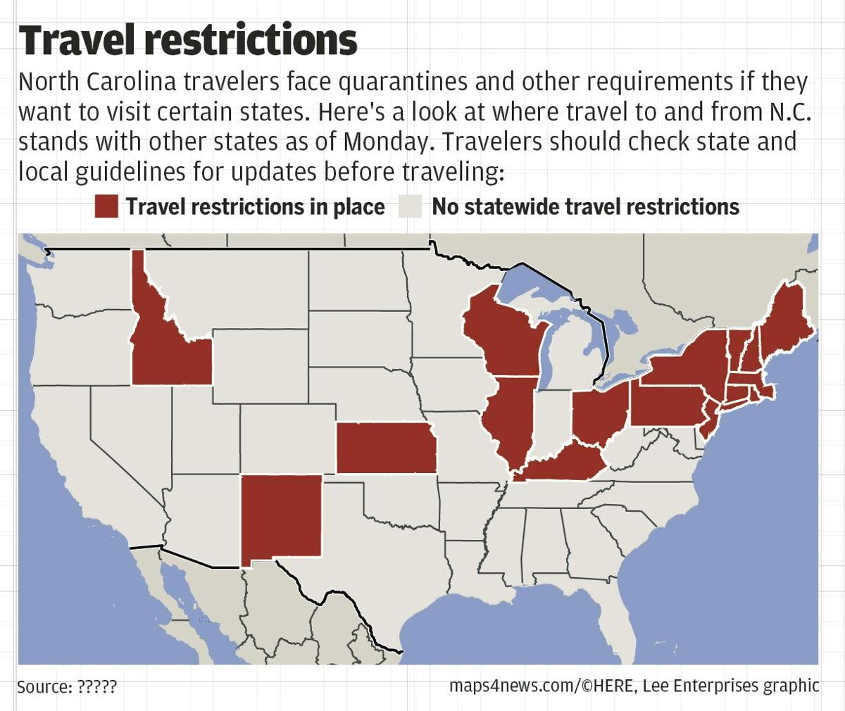 As Covid 19 Cases Rise These States Set Rules For Traveling To And From North Carolina State And Regional News Greensboro Com
