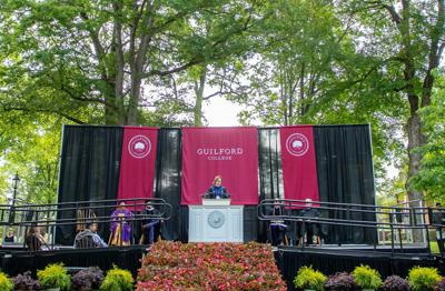 Guilford College commencement 2019 stage