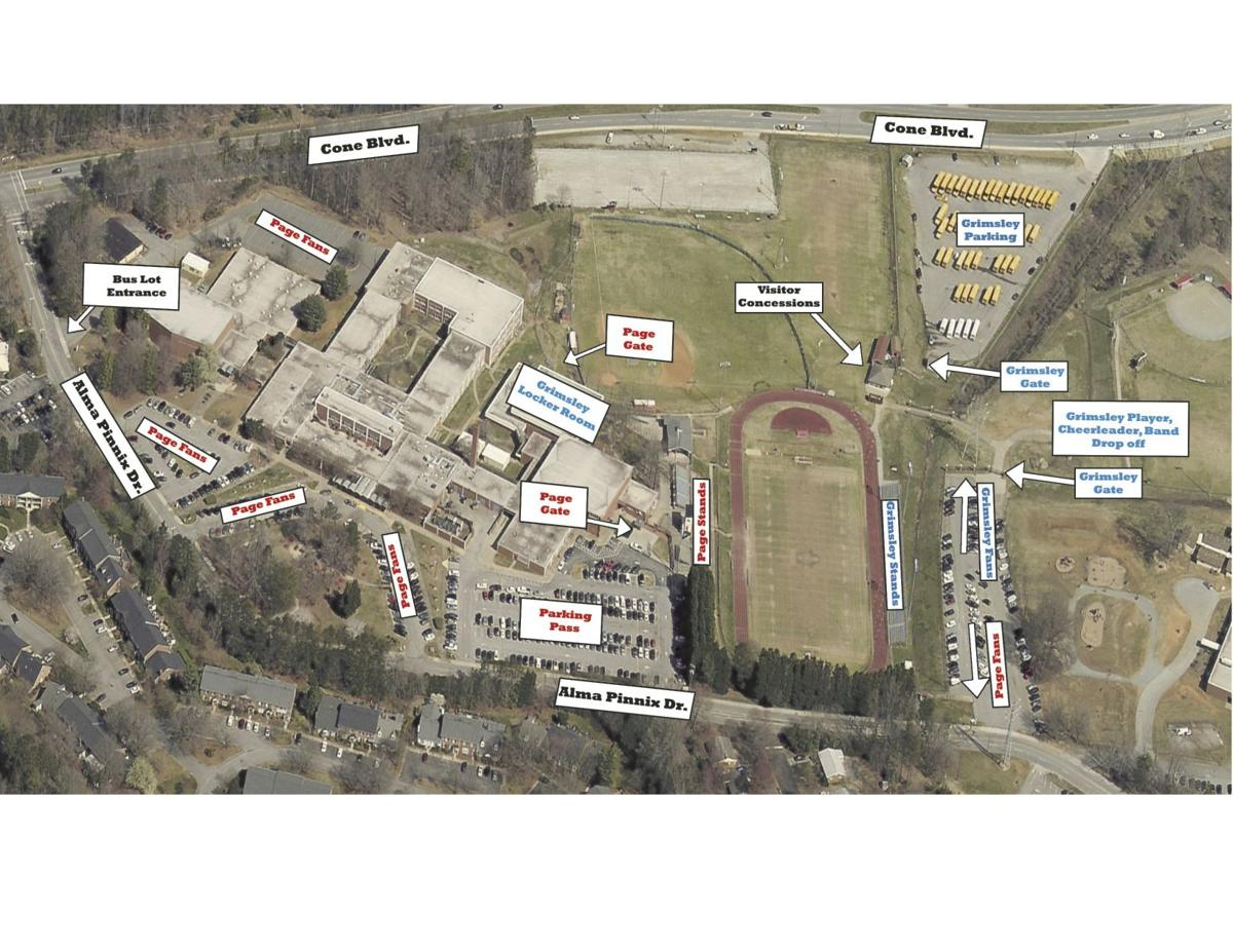 Page campus map for football