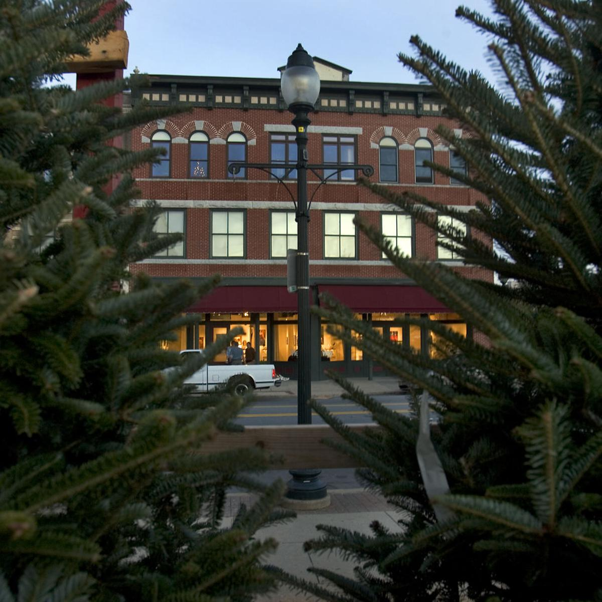 Delancey Street Christmas Trees.Delancey Street Spruces Up Downtown Business Greensboro Com