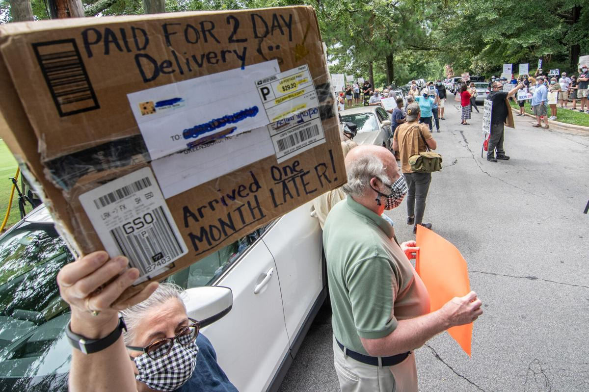 Protest outside Louis DeJoy's Greensboro home