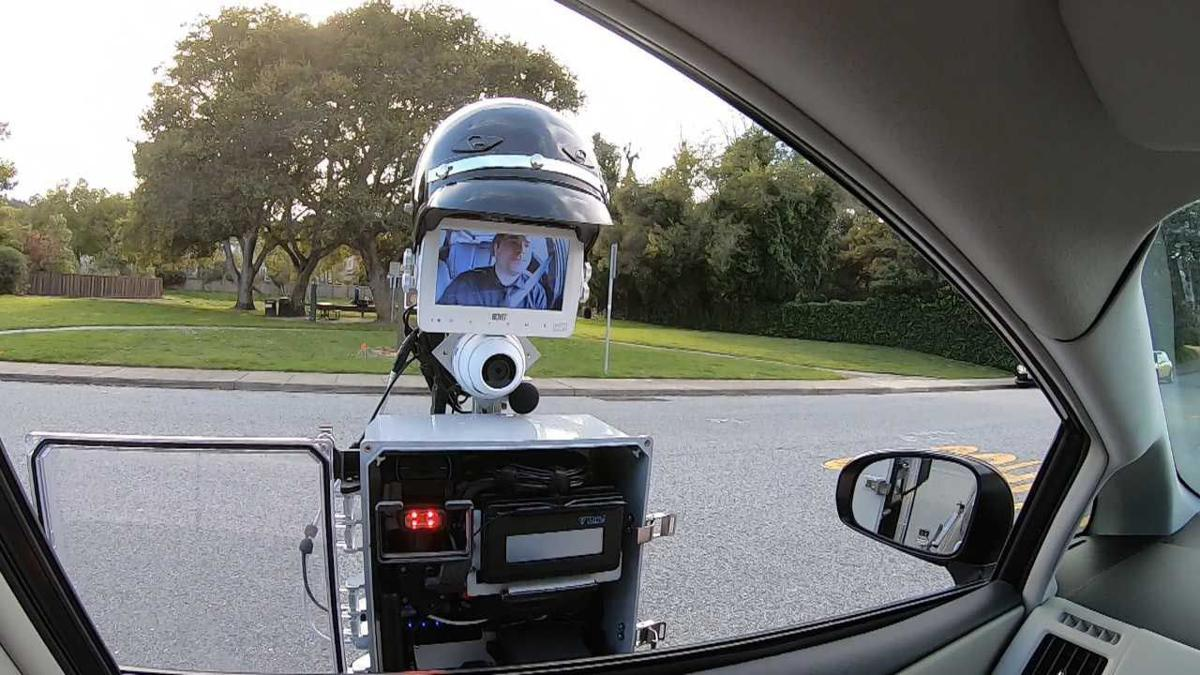 This robot aims to keep the peace between drivers, police officers
