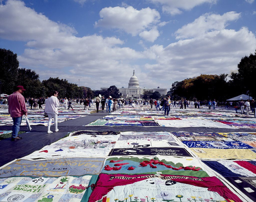 AIDS Memorial Quilt sections on display this week at Greensboro ... : quilt aids - Adamdwight.com
