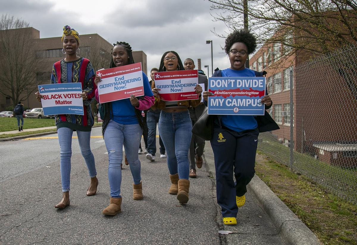 N.C. A&T students protest partisan redistricting