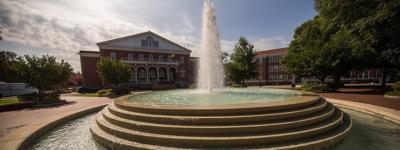 East Carolina University ECU fountain
