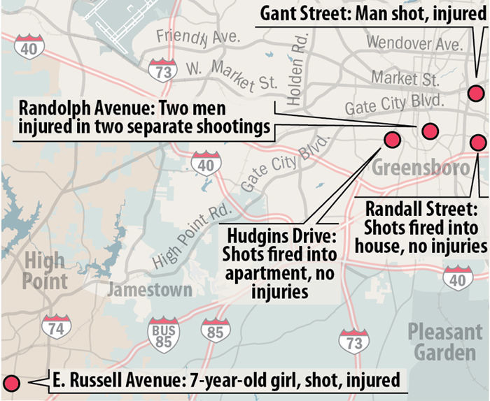 Six shootings in 18 hours  That's what happened to