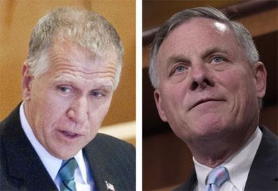 Senators Thom Tillis and Richard Burr of North Carolina