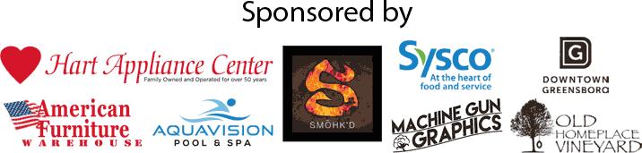 Sponsored by Smoked, Machine Gun Graphics and Downtown Greensboro