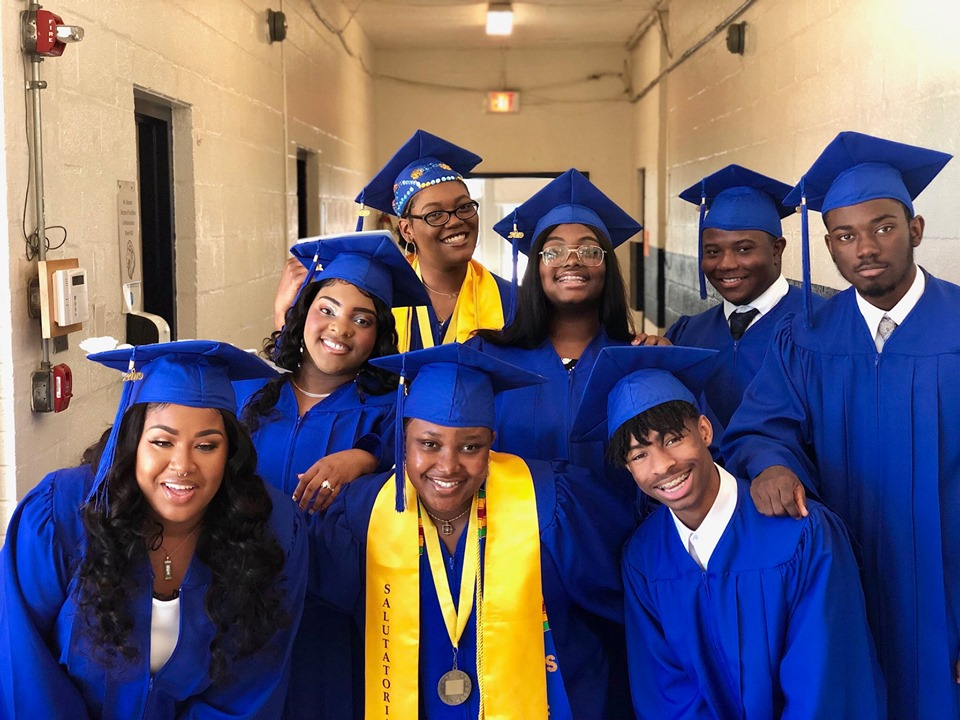 Leadership LINKS Miss Sole (front row center) with members of her graduating class.png