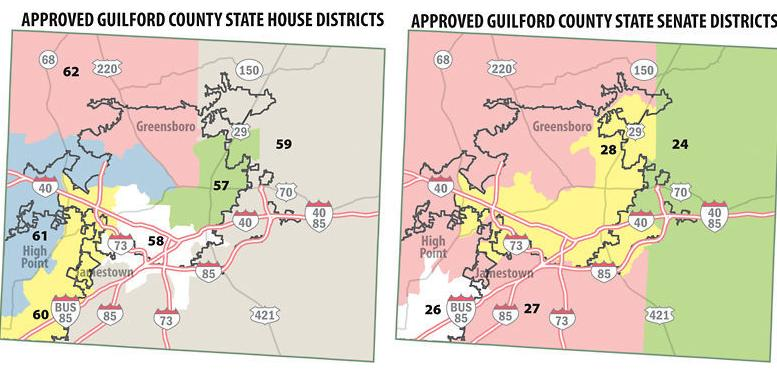 Guilford districts would change under new maps | State ... on map cary nc, map garner nc, map greenville sc, map mobile al, map matthews nc, university of north carolina at greensboro, map durham nc, map guilford county nc, map savannah ga, map charlotte nc, greensboro sit-ins, map huntersville nc, high point, map elizabeth city nc, guilford college, map asheville nc, piedmont triad, map oak ridge nc, map henderson nc, map laredo tx, map high point nc, greensboro coliseum complex, map omaha ne, map winston-salem nc, map clinton nc, map raleigh nc, greensboro college, chapel hill,