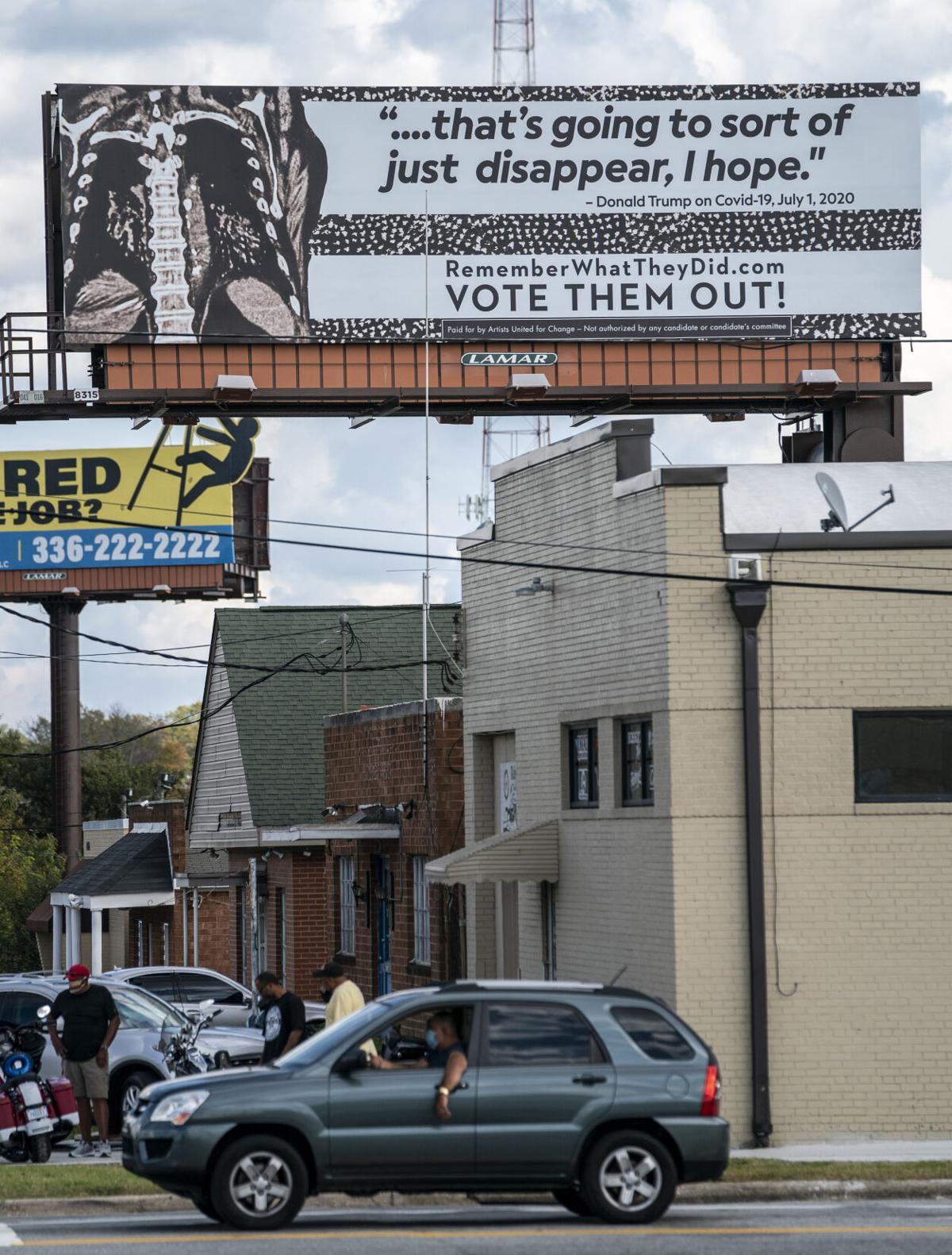 Anti-Trump billboards in Greensboro