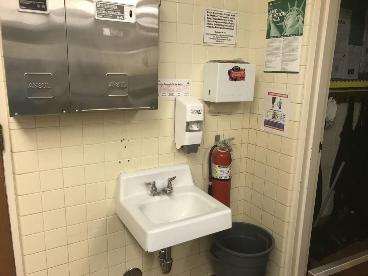 Sink at Southeast Guilford Middle