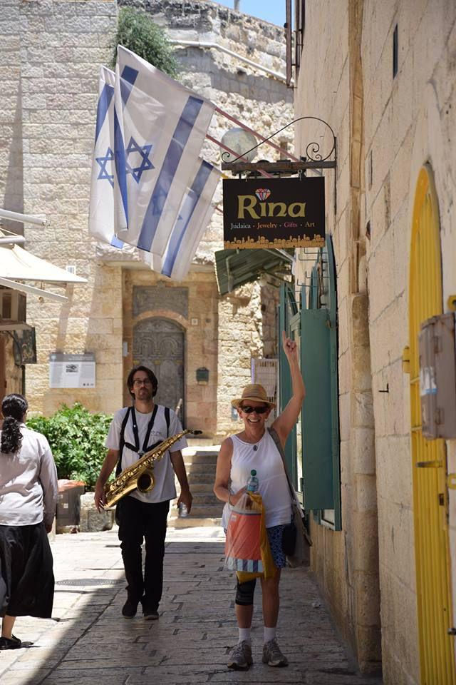 Rina Wolfgang in Israel.
