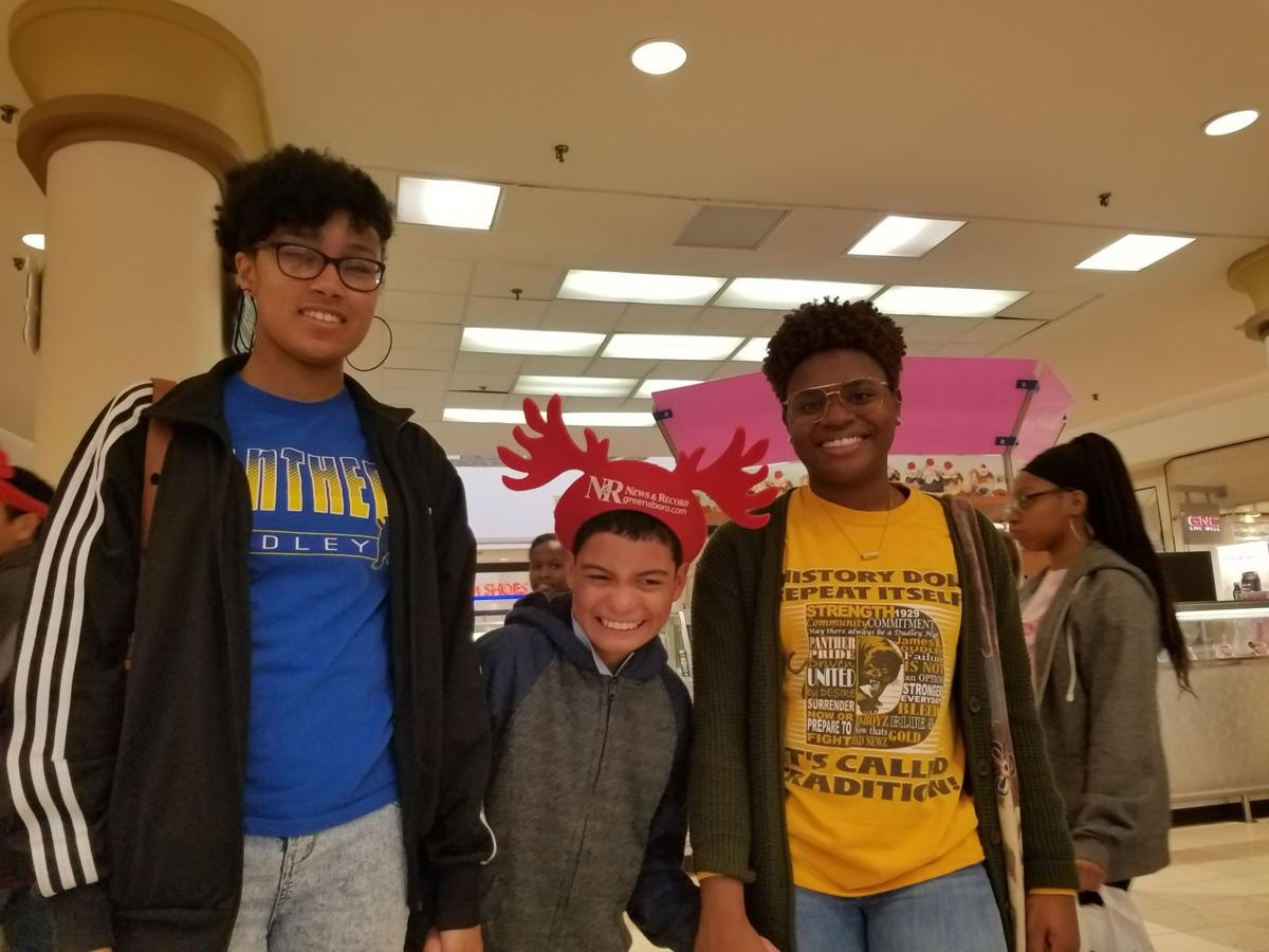 Dudley students help out with special shoppers