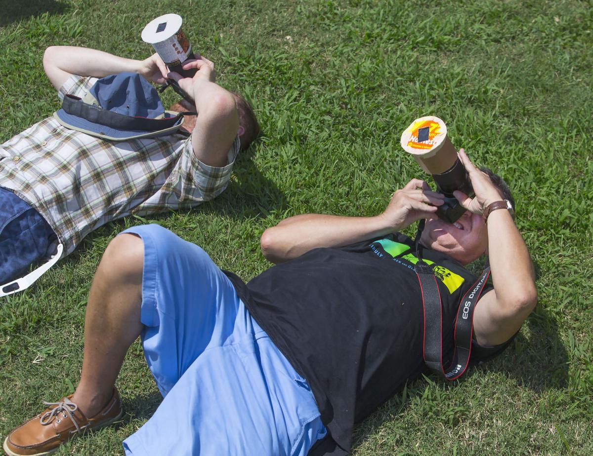 GTCC team at solar eclipse in SC