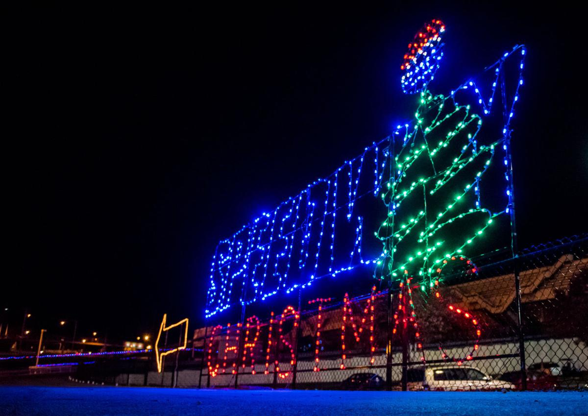 A charlotte christmas display with 3 million lights yes for Charlotte motor speedway christmas lights nc