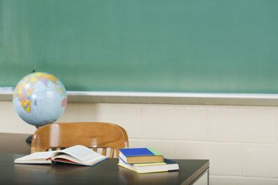 Classroom school generic chalkboard globe