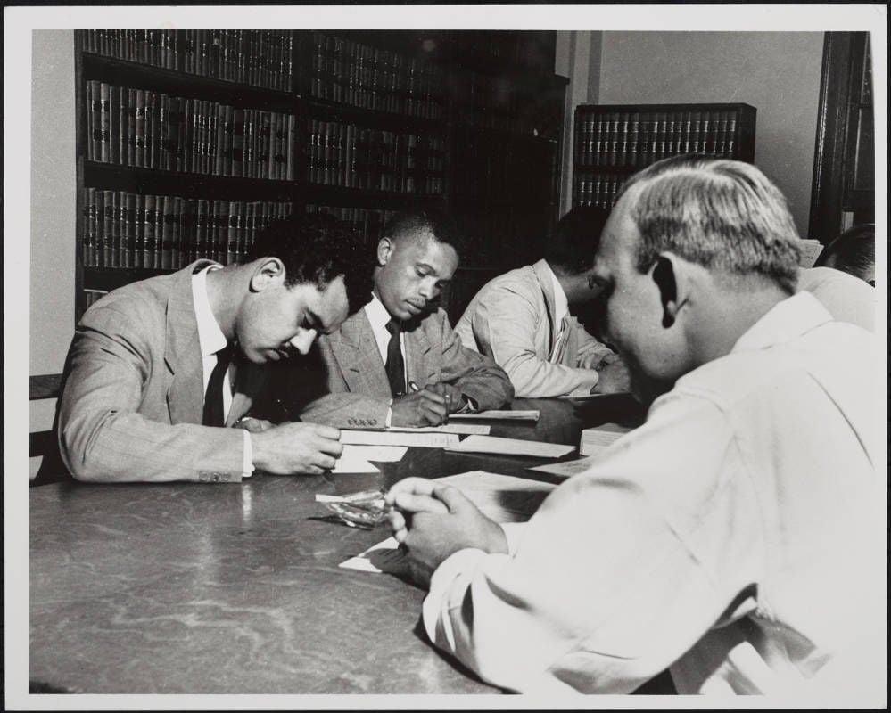 Kenneth Lee during UNC registration in 1951