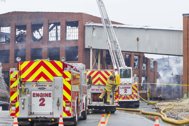 warehouse fire trucks