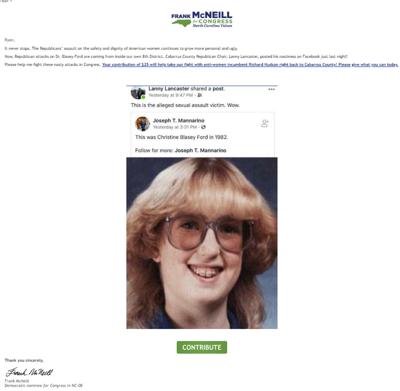 Screenshot of Frank McNeill's newsletter