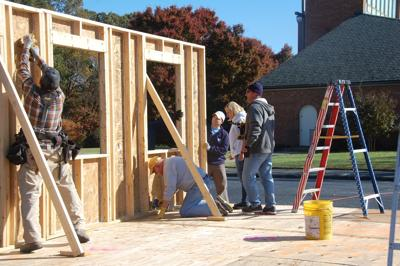 Starmount Presbyterian Church members build tiny home