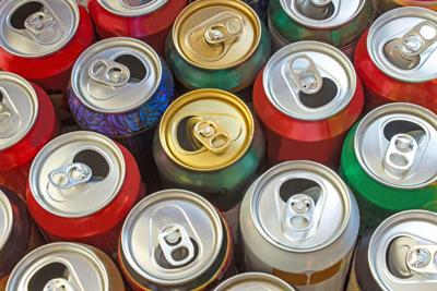 Beer cans as background (copy)