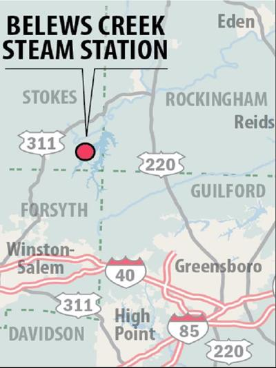 Belews Creek Steam Station map