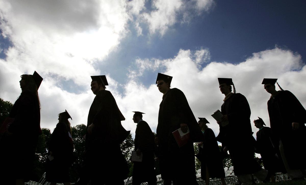 College generic graduation commencement grads in profile
