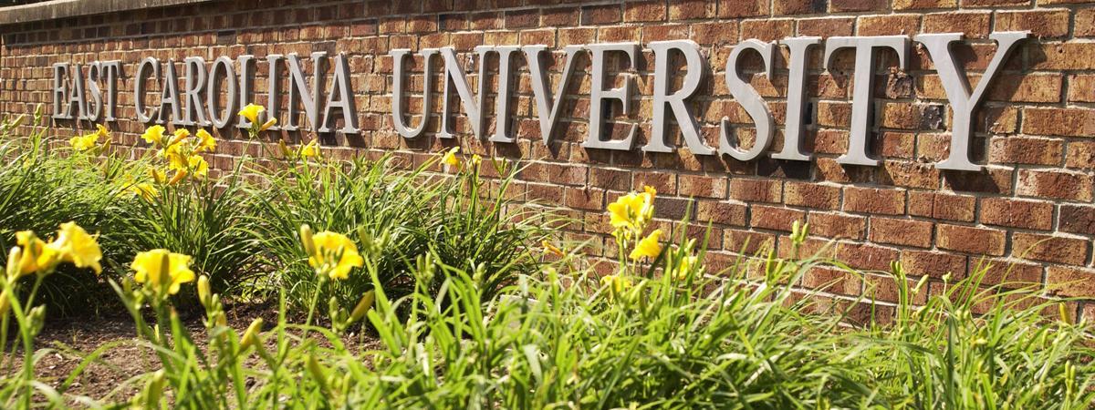 East Carolina University ECU sign
