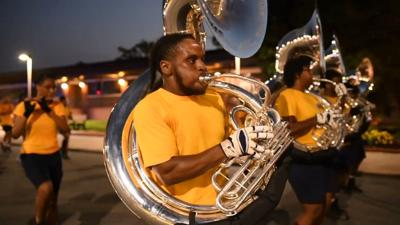 """""""Blue and Gold Marching Machine"""" (copy)"""