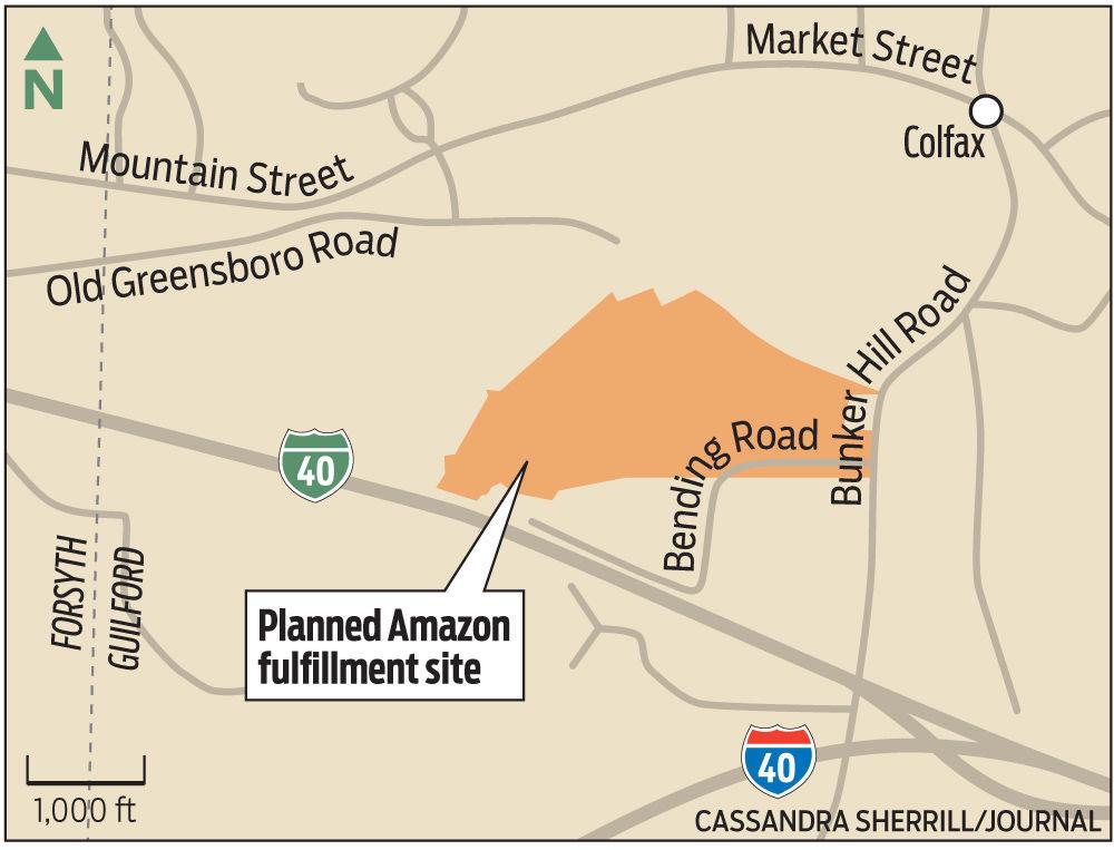 Kernersville Nc Zip Code Map.Work Begins On Amazon Center Planned For Kernersville Local