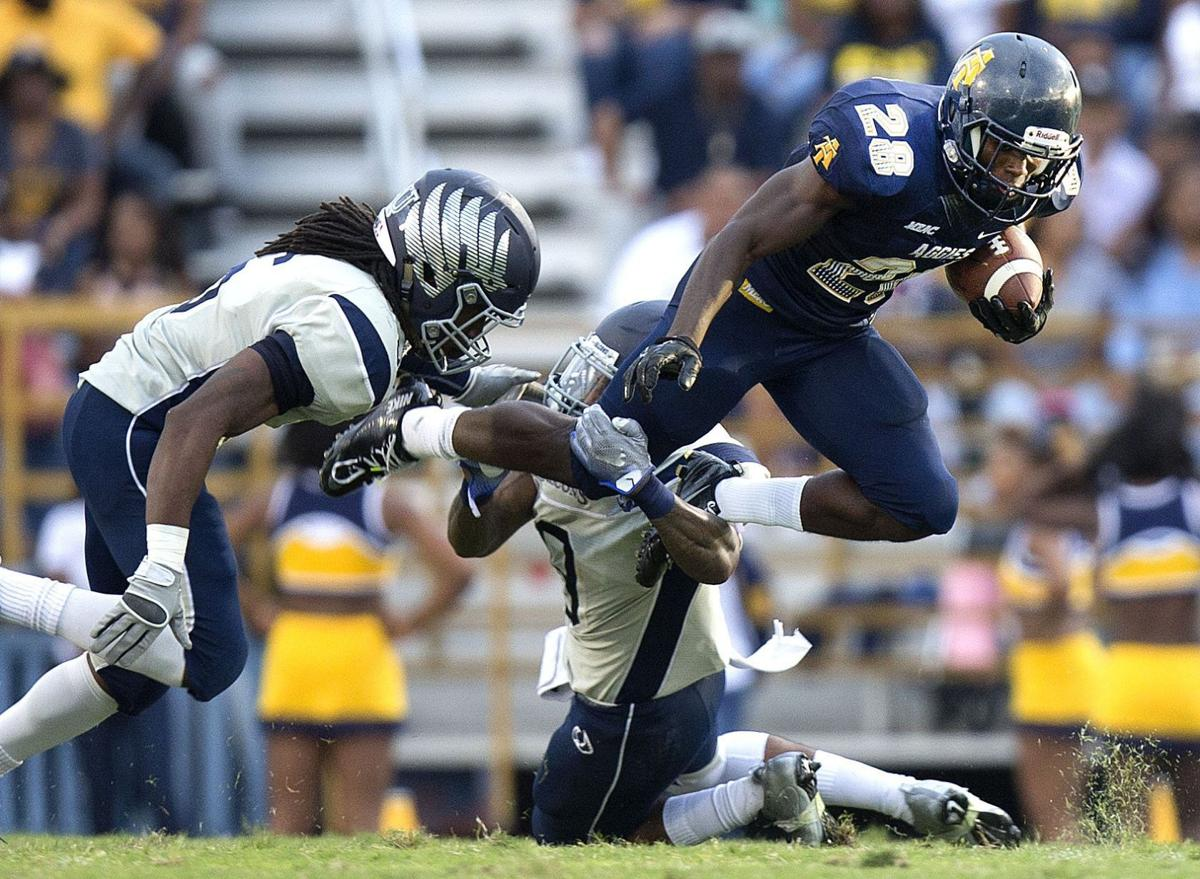 College Football N C A T Aggies Defeat St Augustine S Falcons 62
