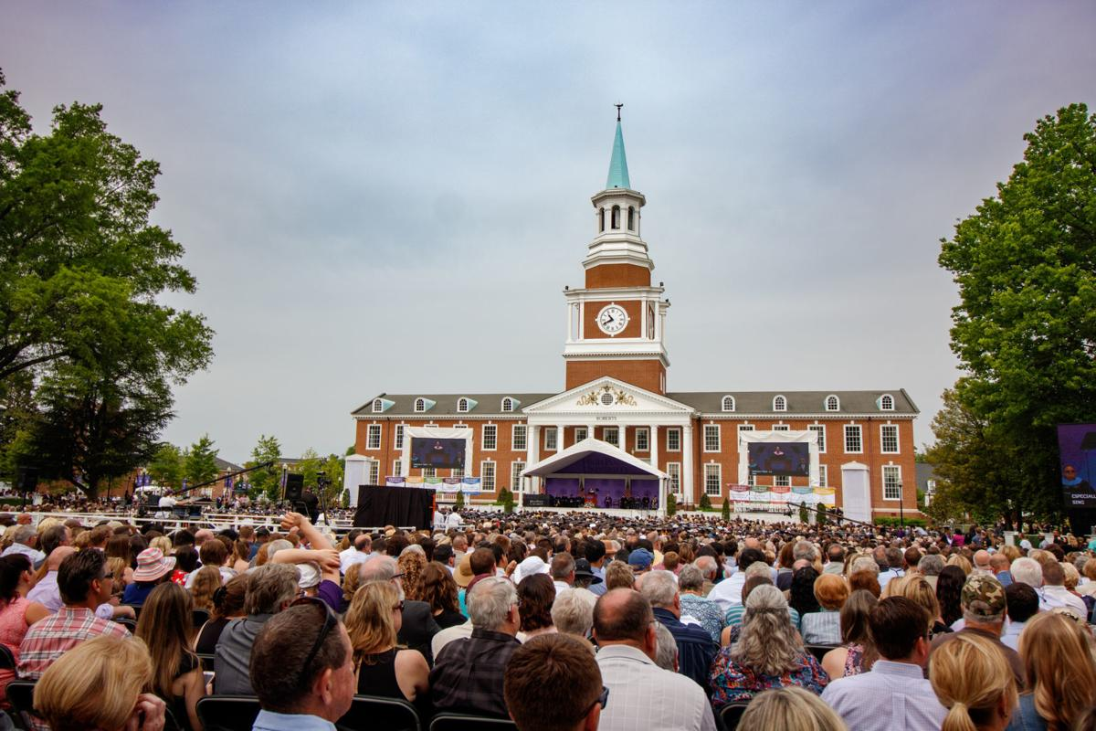High Point University Roberts Hall commencement 2018