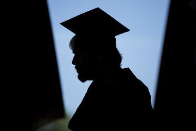 College generic graduation cap profile