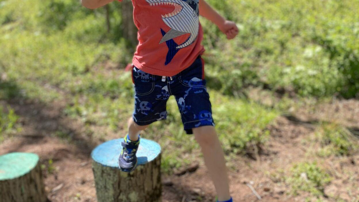 Children's Interactive Trail provides a place for exercise, fun and learning