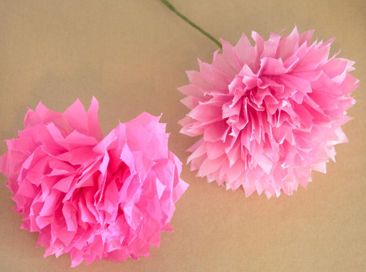 Mothers Day Crafts Handmade Paper And Tissue Paper Flowers Life