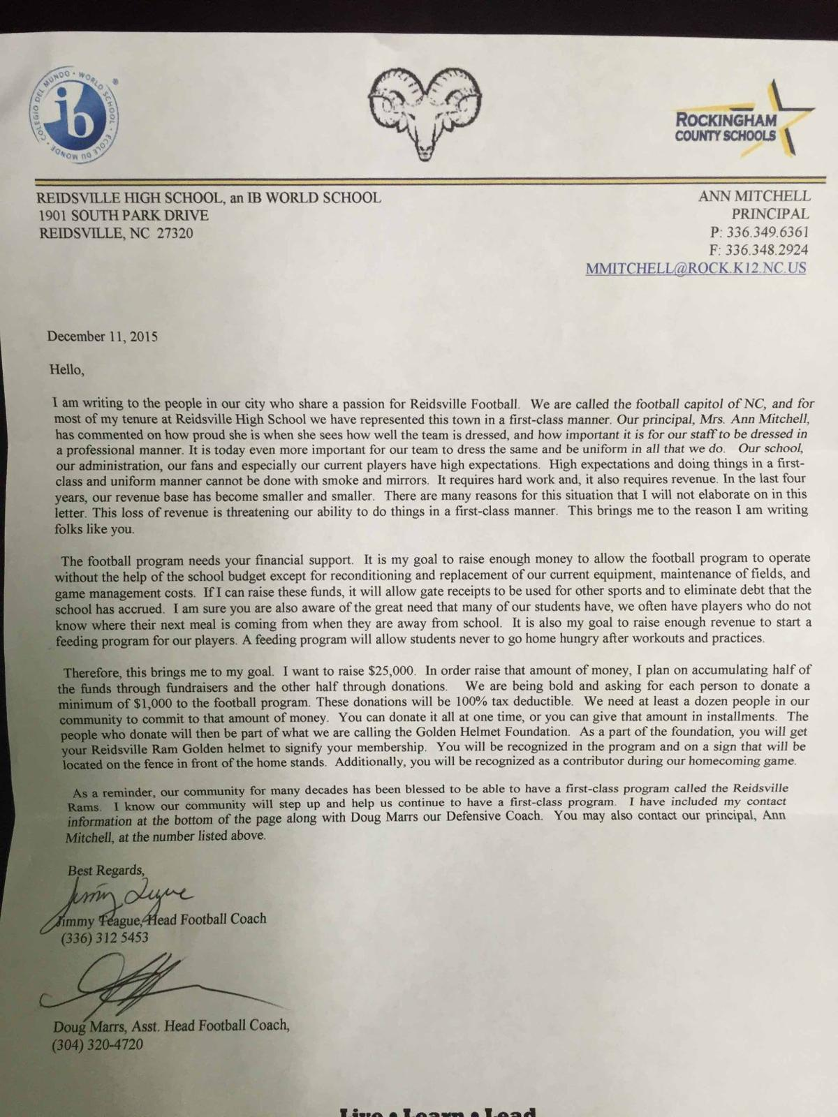 Reidsville High School athletics under investigation for