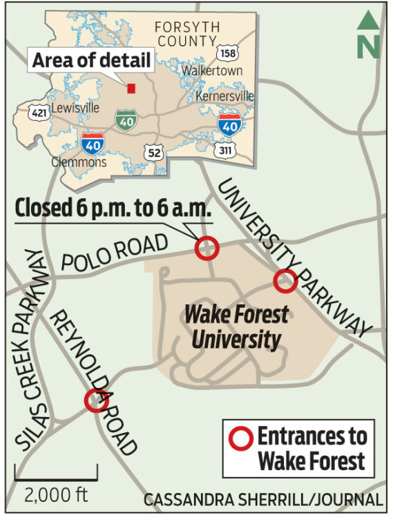 Wake Forest University adds extra security, closes entrances at ...