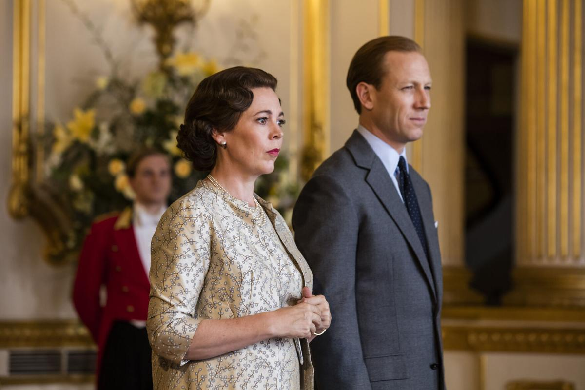 "Olivia Colman as Queen Elizabeth II and Tobias Menzies as Prince Philip in the third season of Netflix' s ""The Crown."""