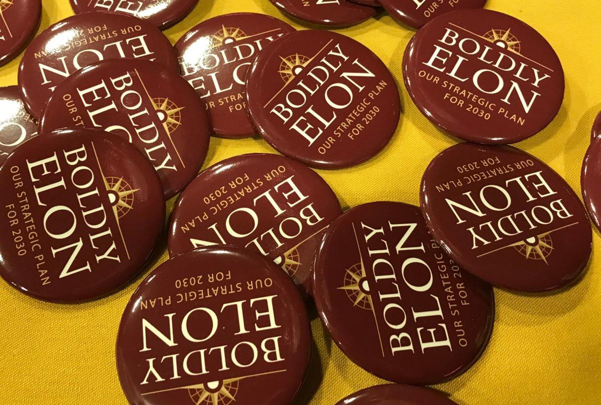 Elon University buttons