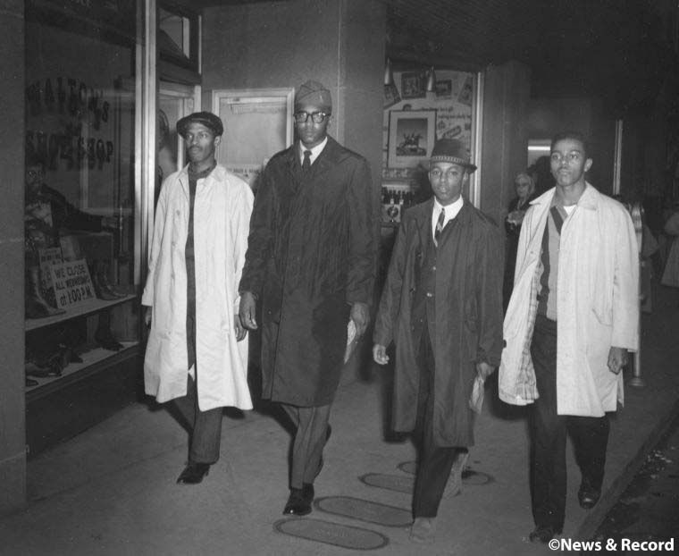 Woolworth sit-in Greensboro Four
