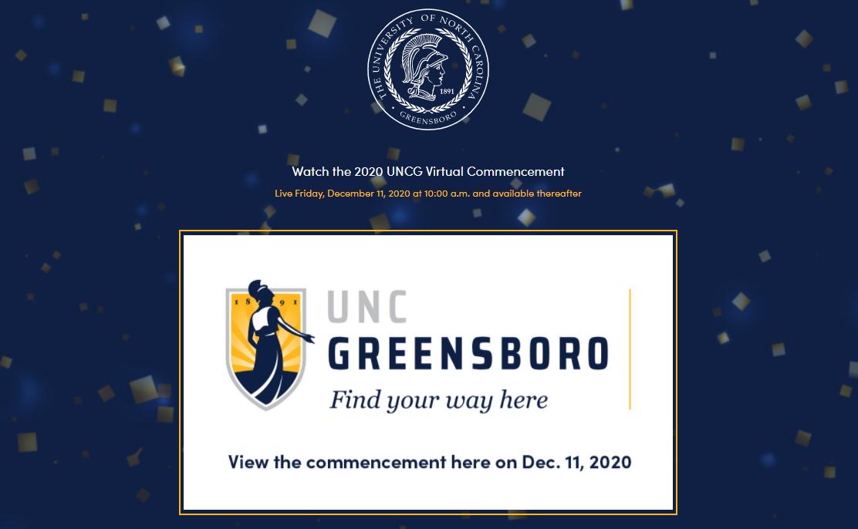 UNCG commencement webpage