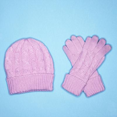 Winter hat and gloves
